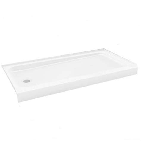 30 X 60 Shower Base by Bootz Industries Showercast 60 In X 30 In Left Drain
