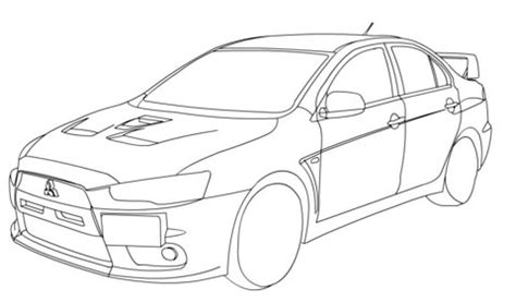 370z Coloring Page by Coloriage Mitsubishi Lancer Evolution X Coloriages 224