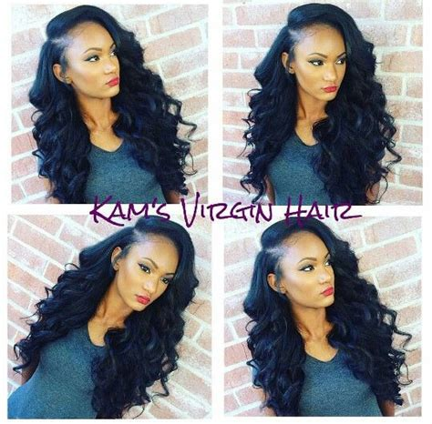weave indiana hair and closure curly deep side part sew in hairstyles pinterest hair