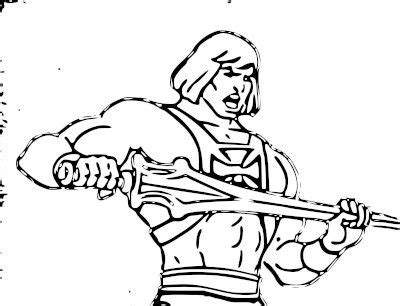 he man masters of the universe coloring pages