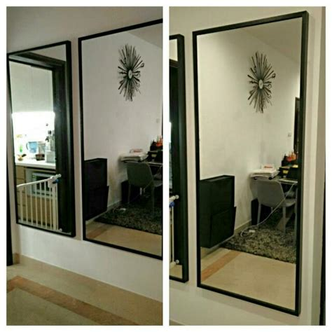 Ikea Spiegel Stave by Used Ikea Stave Mirrors 160x70cm In Black Brown Frame