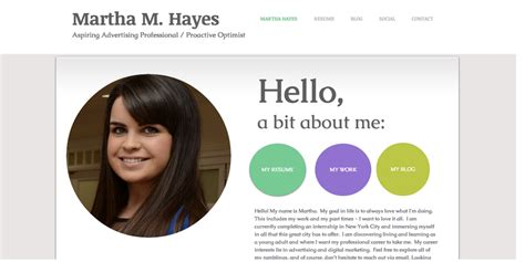 biography websites students stellar exles of creative online portfolio personal