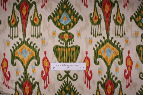 drapery fabric types 1 13 yards robert allen khandar ikat type print drapery
