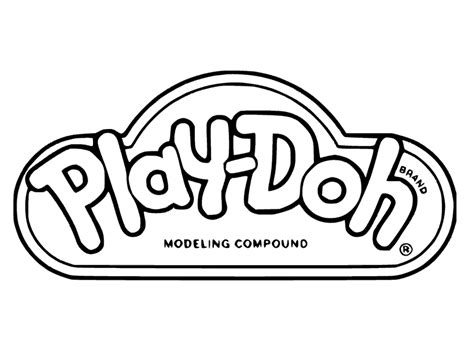 play doh logo black and white get coloring pages