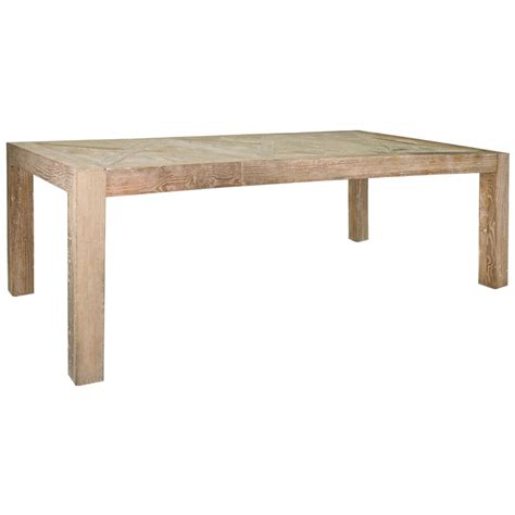 horace rustic lodge reclaimed elm parquet dining table
