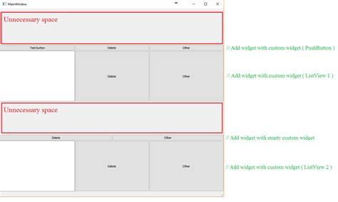 qt layout wrong qt widgets expanding not working when using widget