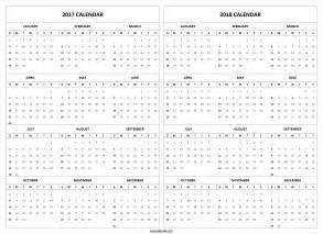 Calendar 2017 And 2018 Get Free Blank Printable 2017 2018 Calendar Template