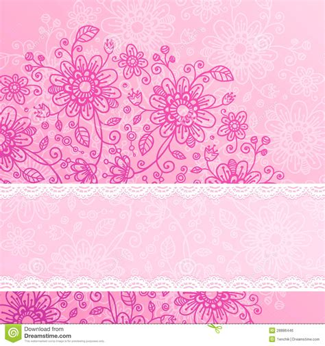 vintage style floral background with pink blooms royalty vintage pink flowers background with lacy ribbon stock
