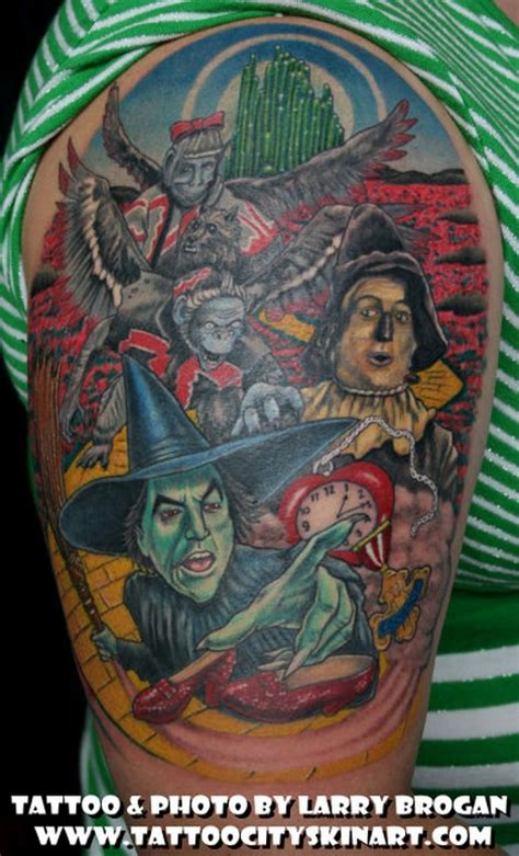 wizard of oz tattoos city skin studio tattoos realistic