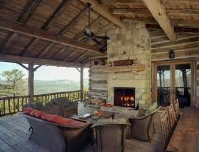 covered deck and outdoor fireplace home