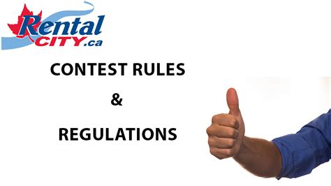 Sweepstakes Rules And Regulations - rental city contest rules and regulations