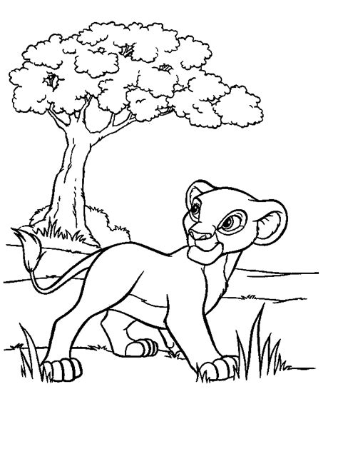 coloring page lion cub cute lion cub animals coloring pages