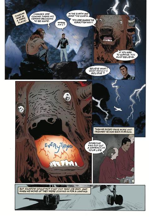 american gods volume 1 shadows graphic novel look at american gods shadows 1 by gaiman