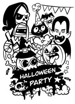 Bruxa de halloween silhueta | Vetor Grátis