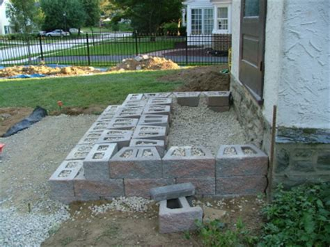 building patio paver stairs we show the way we construct steps using wall stones with photos descriptions newtown square
