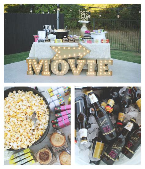 backyard movie party ideas kara s party ideas outdoor movie night thirtieth birthday