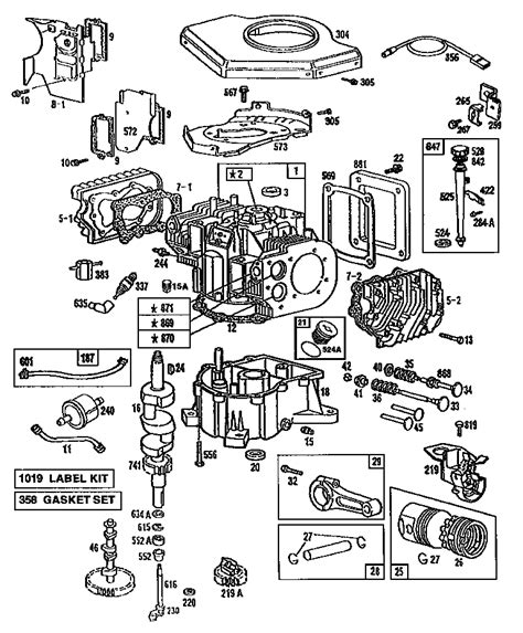 parts diagram for briggs stratton engine briggs and stratton engine schematics small engines