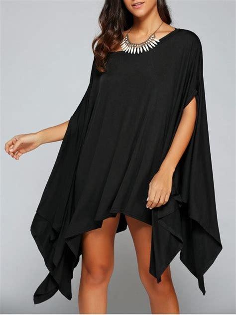 Asymmetric Shoulder Dress Size M L asymmetric one shoulder bat wing sleeve dress black dresses 2018 m zaful