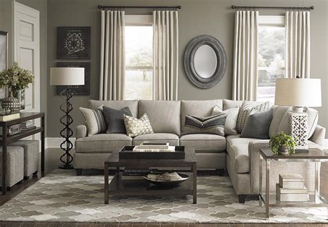 bassett esszimmer custom upholstery medium l shaped sectional wohnzimmer
