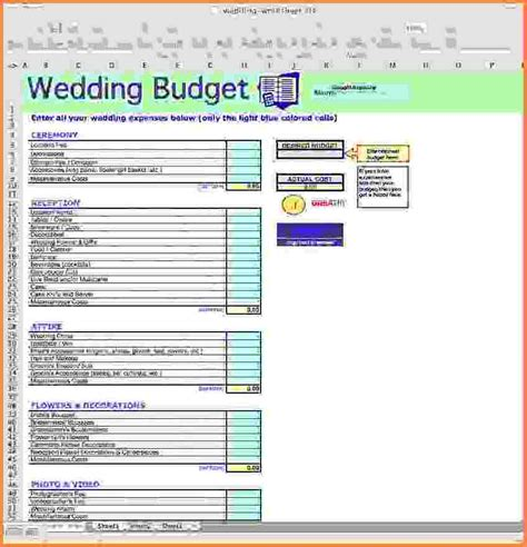 Wedding Budget Builder by Free Wedding Budget Excel Template Savvy Spreadsheets