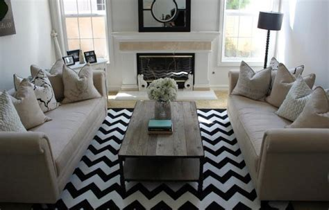two rugs in living room 10 modern chevron rug designs for the living room rilane