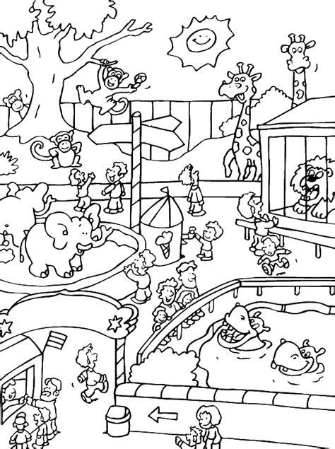 dibujos para colorear zoologico desenho de entrada do zool 243 gico para colorir tudodesenhos
