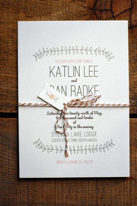 rustic wedding invitations with style ipunya