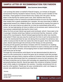Character Reference Letter Us Waiver Pardon Letter Of Recommendation Exle By Waiverlettersle On Deviantart