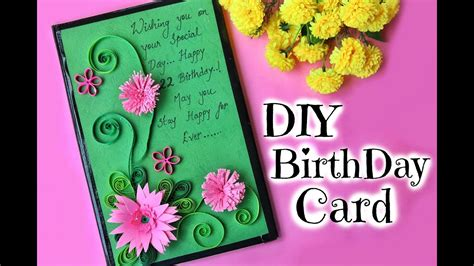 how to make birthday cards for diy birthday card for friend easy handmade paper