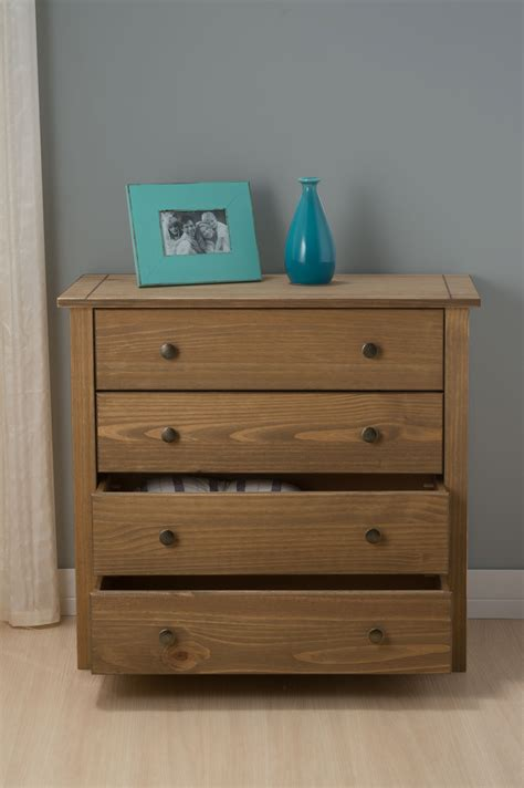 santiago bedroom furniture santiago solid pine 4 drawer chest