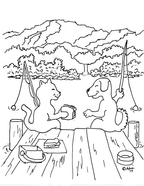 coloring pages for kids by mr adron dog and cat friends