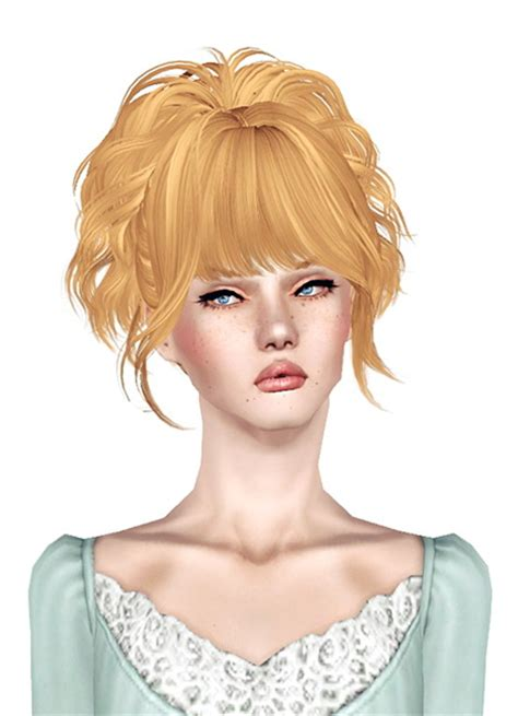 sims 3 custom content fringe hairstyle the sims 3 up ponytail with bangs skysims 171 retextured