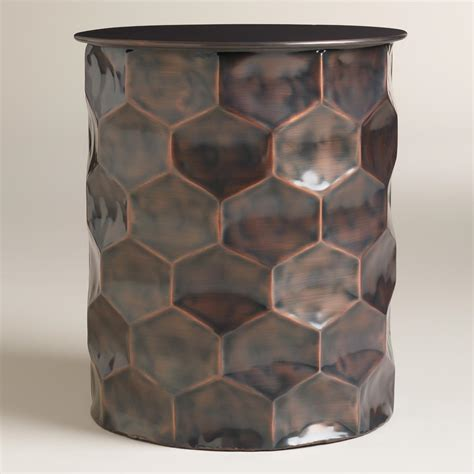 Drum Accent Table | metal rani drum accent table world market