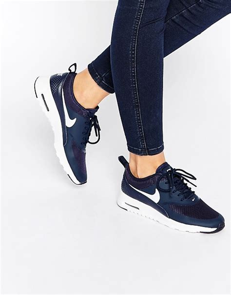 nike air max thea navy trainers asos