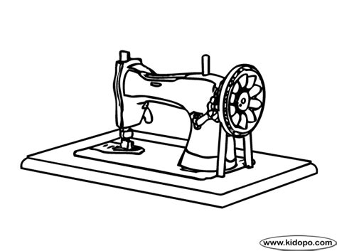 sewing machine coloring pages