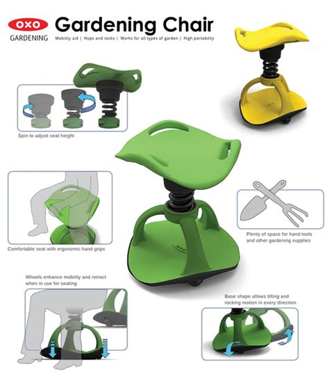 Ergonomic Gardening Stool by Gardening Chair Offers Mobility For Aging Green Thumbs Gardens