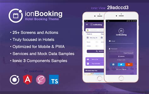 theme hotel app ionbooking ionic 3 hotel booking theme ionic theme
