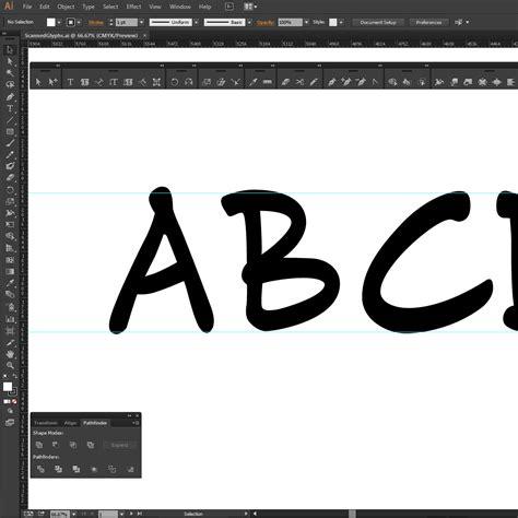 design font illustrator building a custom font in adobe illustrator and fontlab