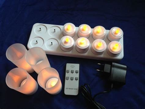 remote control tea lights 12 rechargeable flickering tea lights flameless led