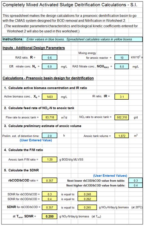 Sewer Design Spreadsheet by Engineering Excel Templates