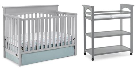 graco crib with changing table amazon com graco changing table pebble gray baby