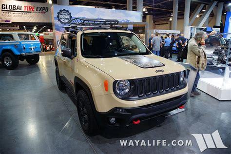 mopar jeep renegade 2015 sema mopar jeep renegade desert trailhawk concept