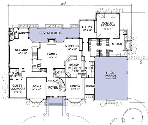 European House Plans With Porte Cochere Cottage House Plans Data House Plans