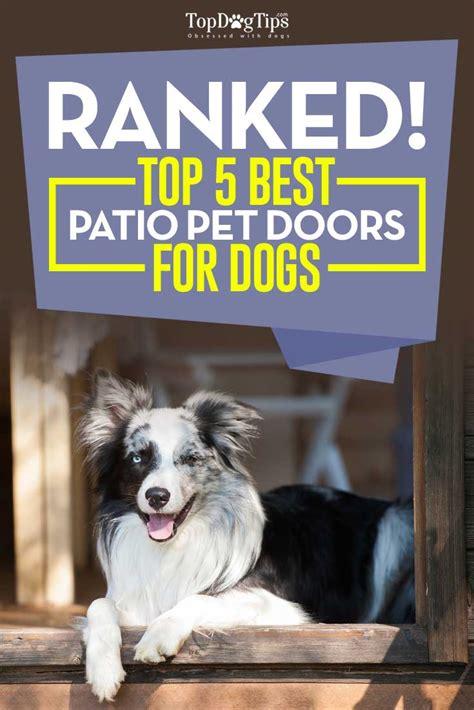 best patio doors for the money top 5 best patio pet door for dogs convenient for owners