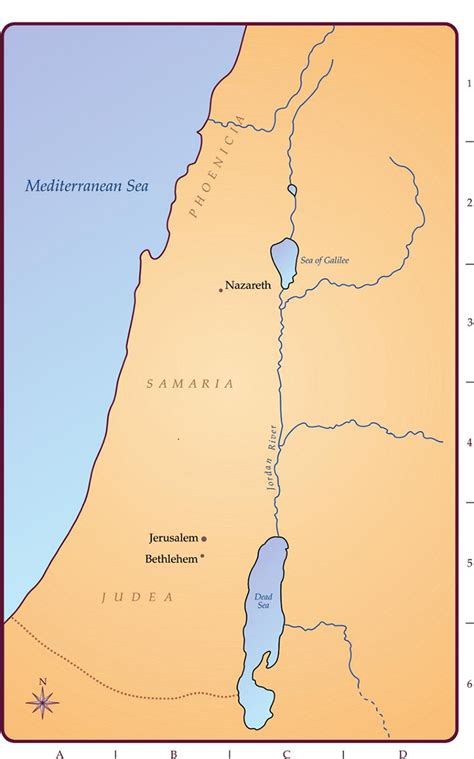lds maps map of the holy land
