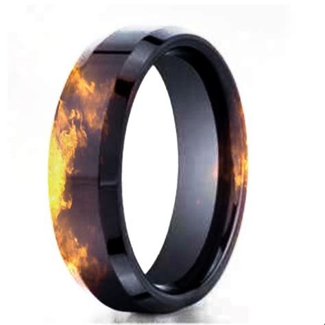 Wedding Rings For Firefighters by Black Gold Effect Wedding Band Firefighter Stuff