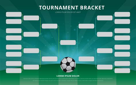Football Tournament Bracket Poster Template Download Free Vector Art Stock Graphics Images Soccer Tournament Schedule Template