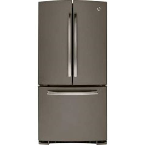 home depot fridges ge 33 in w 22 7 cu ft door refrigerator in slate