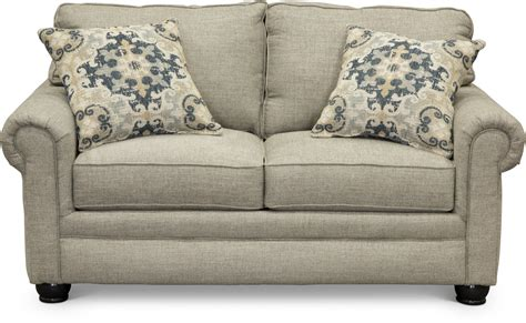 Casual Traditional Taupe Sofa Sleeper Loveseat Set Traditional Sleeper Sofa