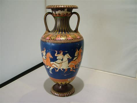 antique grecian urn shaped olympic vase bates brown